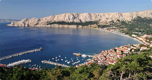 Baska, Krk Island, cruising region Istria and Kvarner