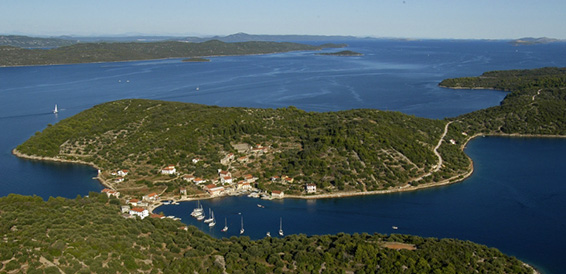 Rava Island, cruising region Northern Dalmatia